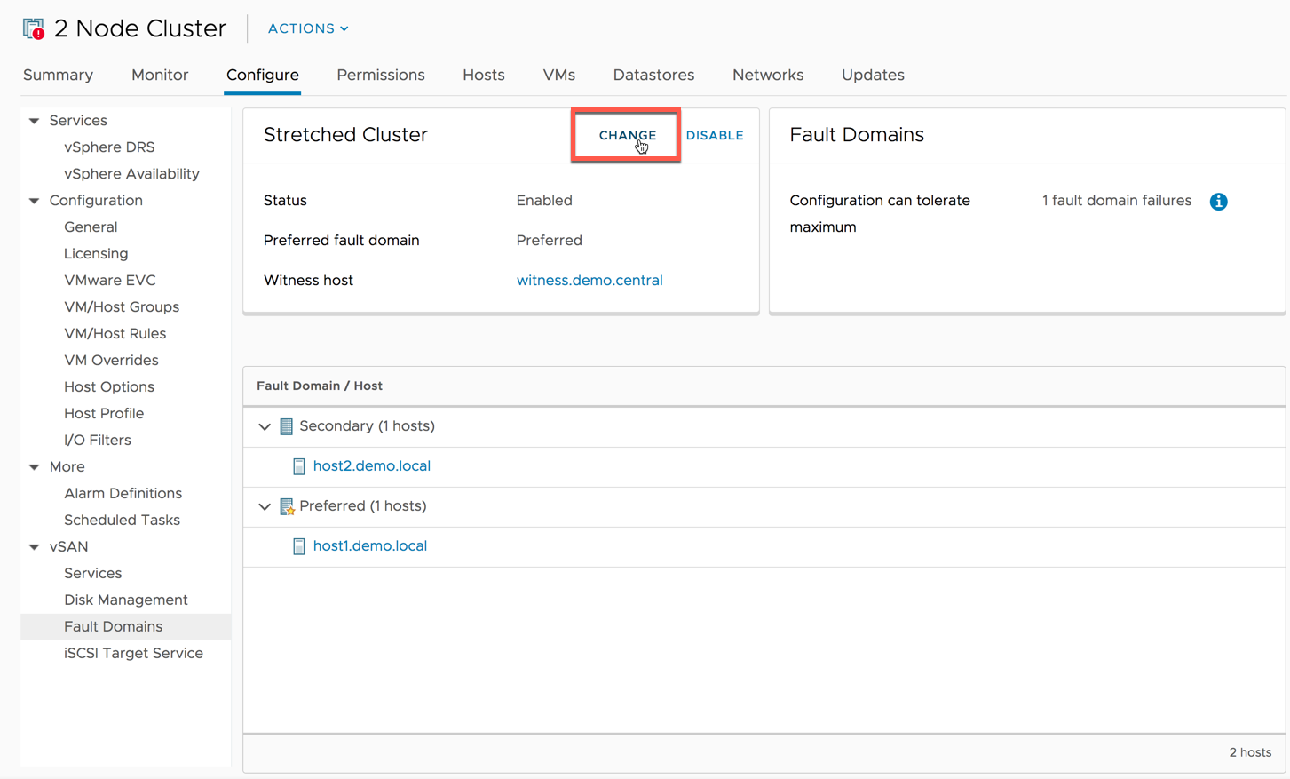 Replacing a Failed vSAN Witness Host