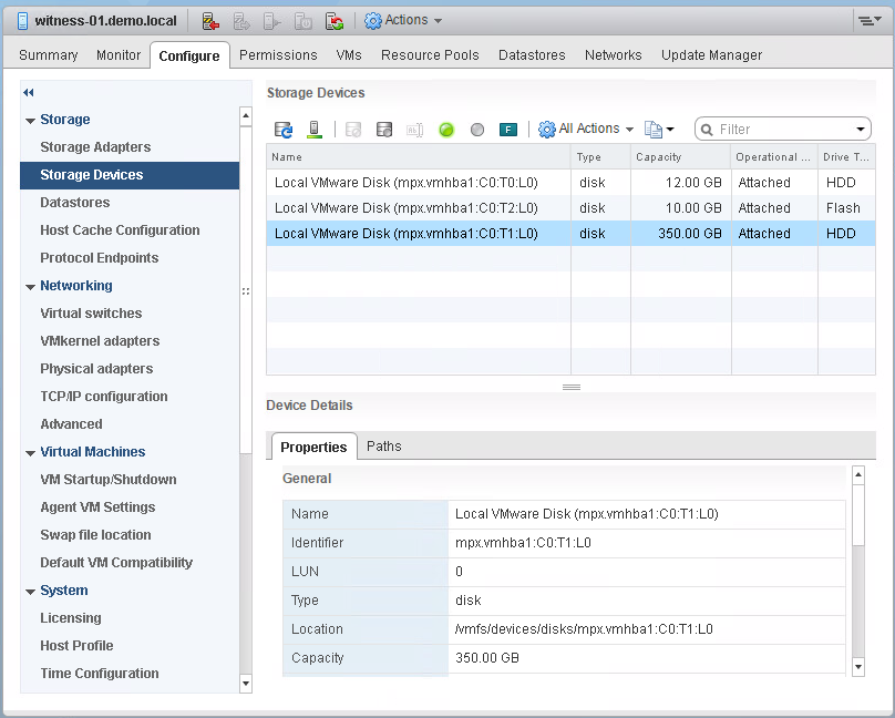 vSAN Witness Appliance matches