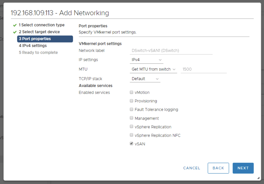 Configure networking on 3rd host