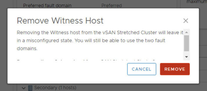 Remove the vSAN Witness Host