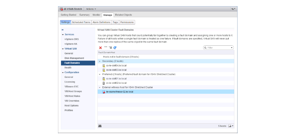 replacing the vSAN Witness Host Pre-6.6